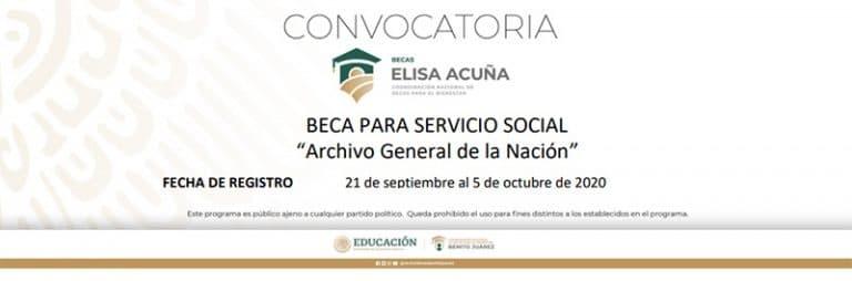 Beca Archivo General de la Nación