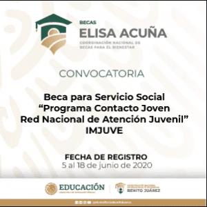 Beca Servicio Social Contacto Joven