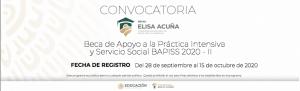 Convocatoria Beca a la Práctica Intensiva y Servicio Social BAPISS 2020 - II