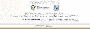 Convocatoria Beca Manutención UNAM 2021-1
