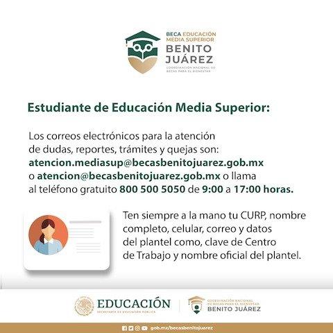 Correos Educación Media Superior