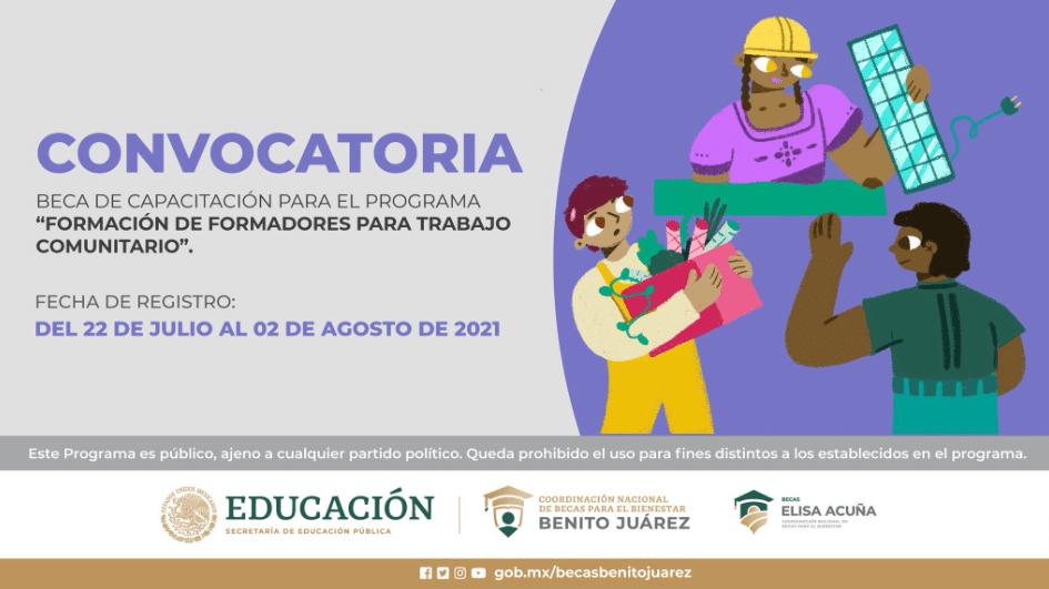"""Convocatoria Beca de Capacitación para el Programa """"Formación de Formadores para Trabajo Comunitario"""""""