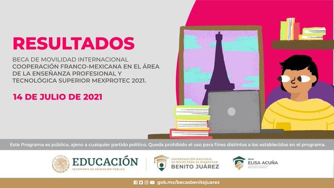 Resultados Beca de Movilidad Internacional Franco-Mexicana