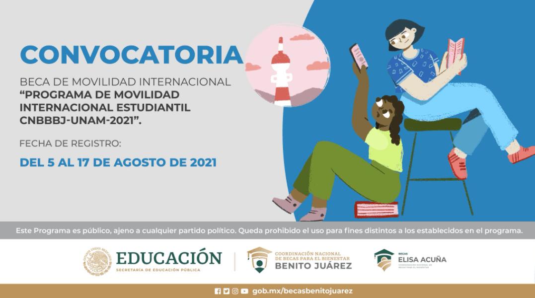 Beca de Movilidad Internacional Estudiantil UNAM 2021