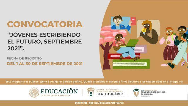Convocatoria Beca Jóvenes Escribiendo el Futuro Septiembre 2021